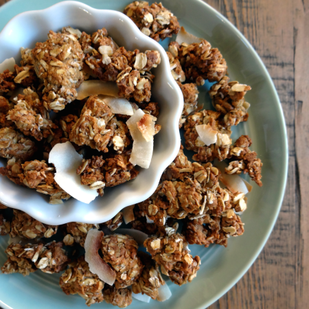 Whole Wheat Cinnamon Cookie Coconut Granola