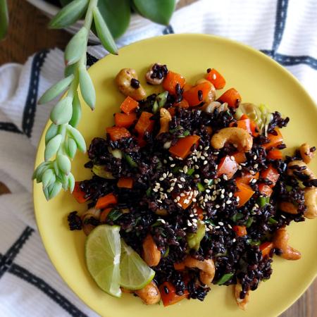Thai Forbidden Rice Salad