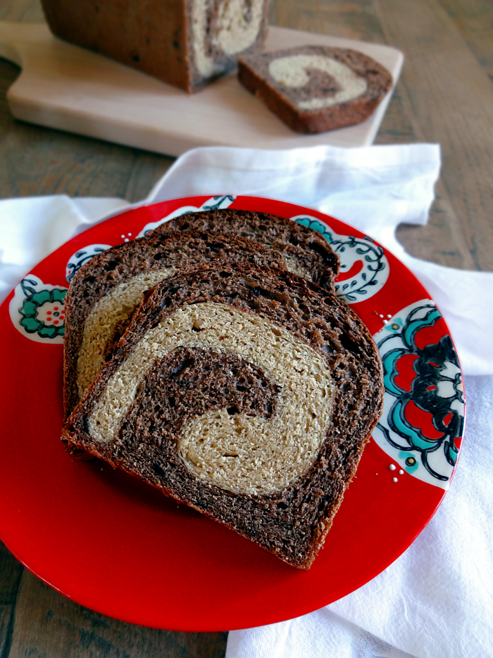 Peanut Butter and Chocolate Swirl Bread