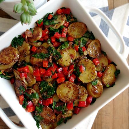 Sauteed Potato Salad With Maple-Balsamic Vinaigrette