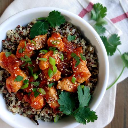 Sriracha Chicken and Quinoa Bowl