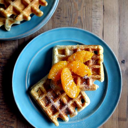 Citrus Chia Waffles