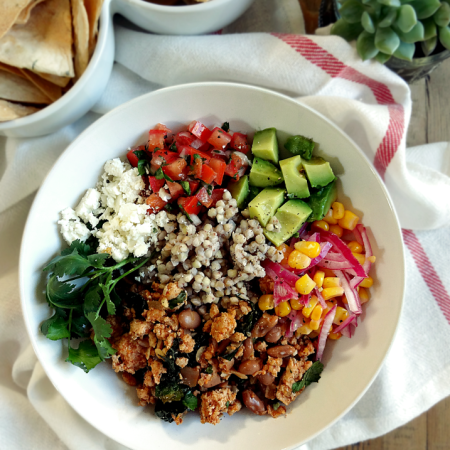 Mexican Turkey and Bean Bowl