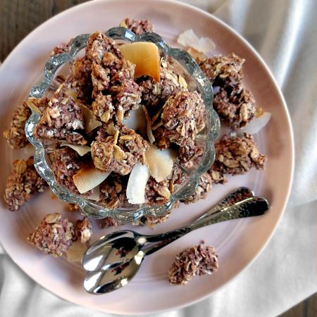 Raspberry Coconut Cookie Granola