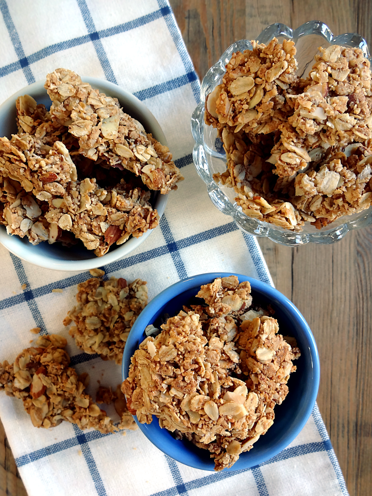 Homemade Granola Clusters With Almonds