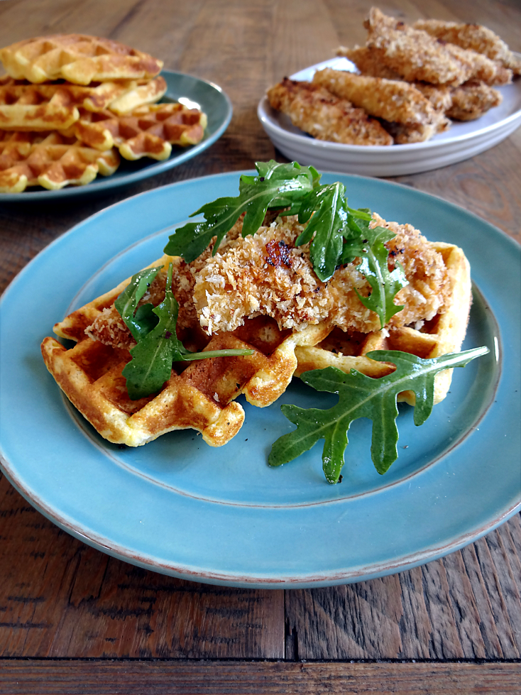 Oven-Fried Chicken and Waffles2