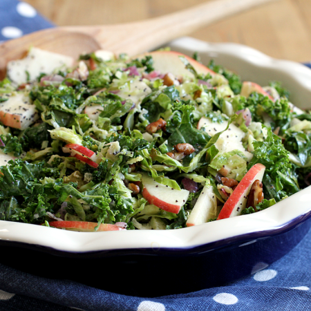 Roasted Brussels Sprouts and Kale Salad_close