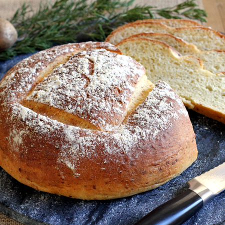 Potato Bread with Rosemary and Cheddar Cheese