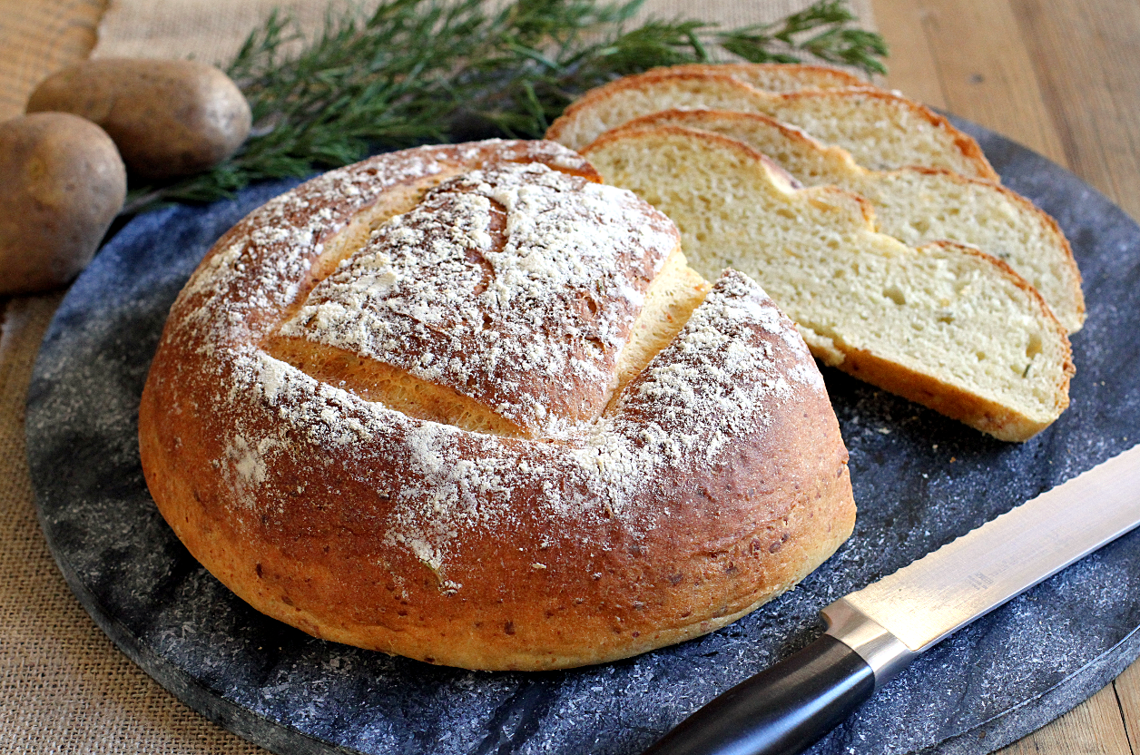 Potato Bread with Rosemary and Cheddar Cheese - Two of a Kind