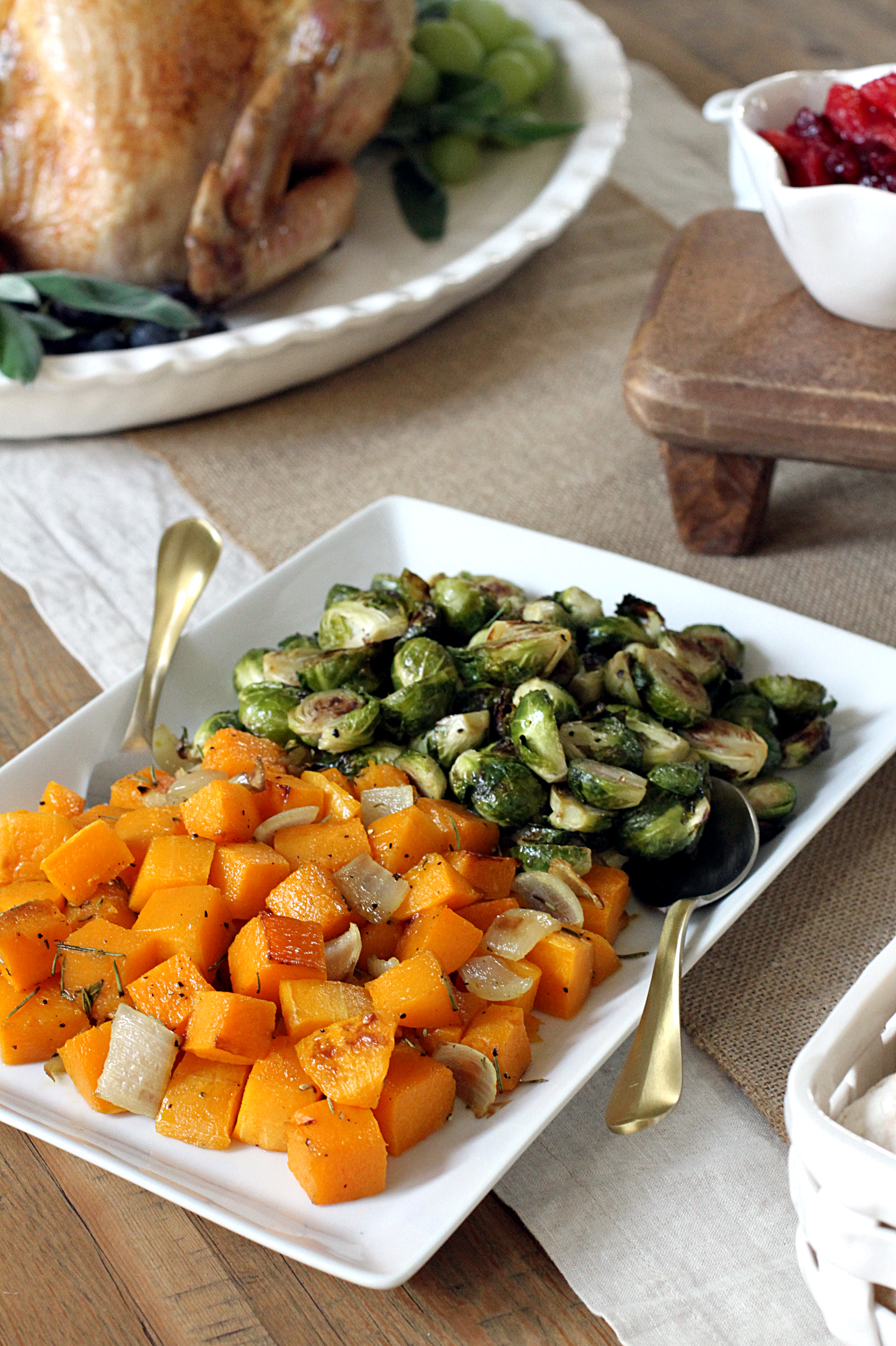 Butternut Squash And Brussels Sprouts