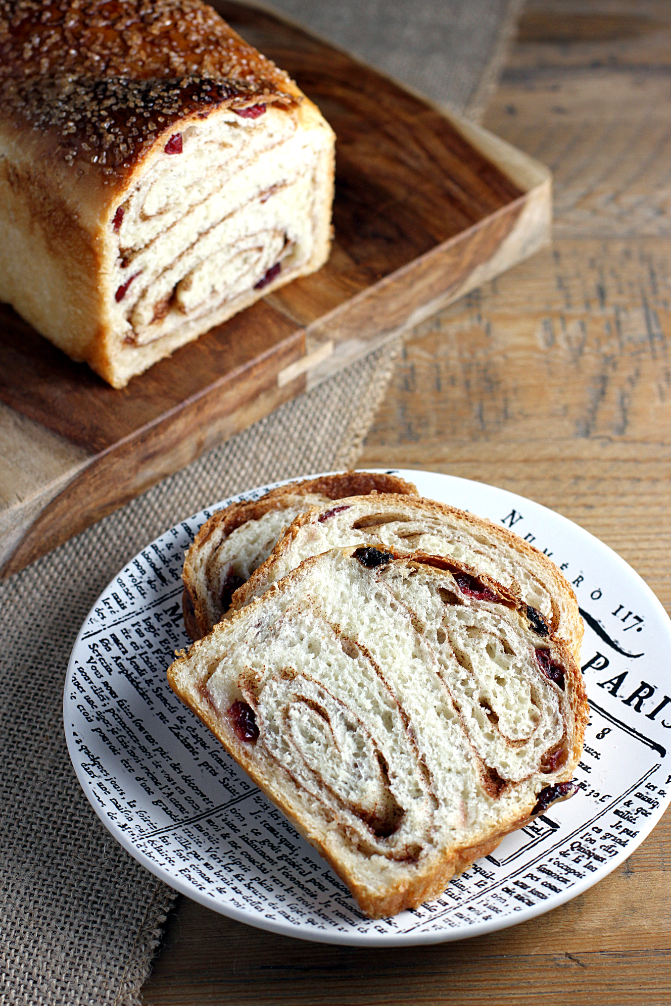 Craisin Cinnamon Swirl Bread Two Of A Kind