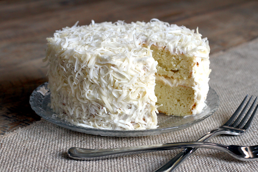 Coconut Cake with Cream Cheese Frosting Two of a Kind
