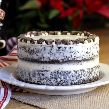 Double-Layer Chocolate Cake with Baileys Buttercream