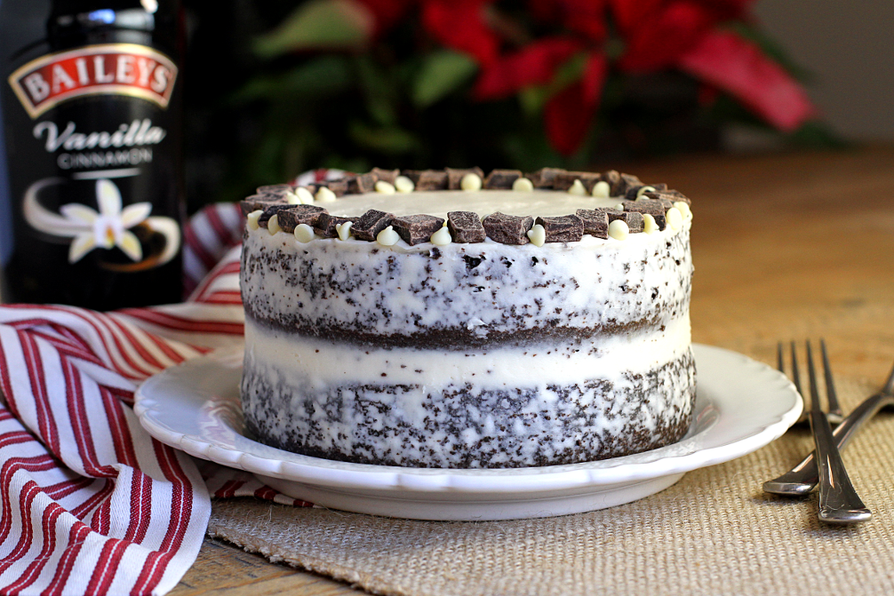 Moist+Double+Layer+Chocolate+Cake Double-Layer Chocolate Cake with ...
