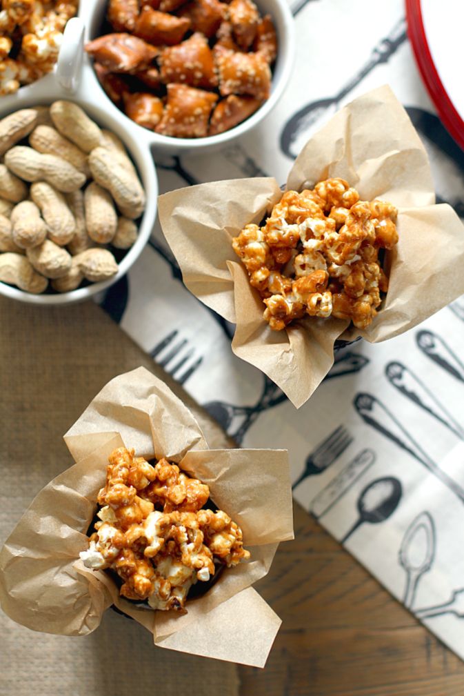 Honey Peanut Butter Popcorn - Two of a Kind