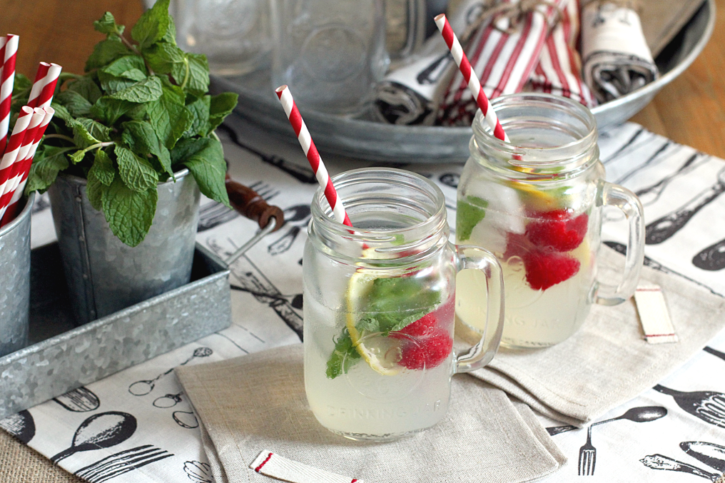 Sparkling Mint Lemonades