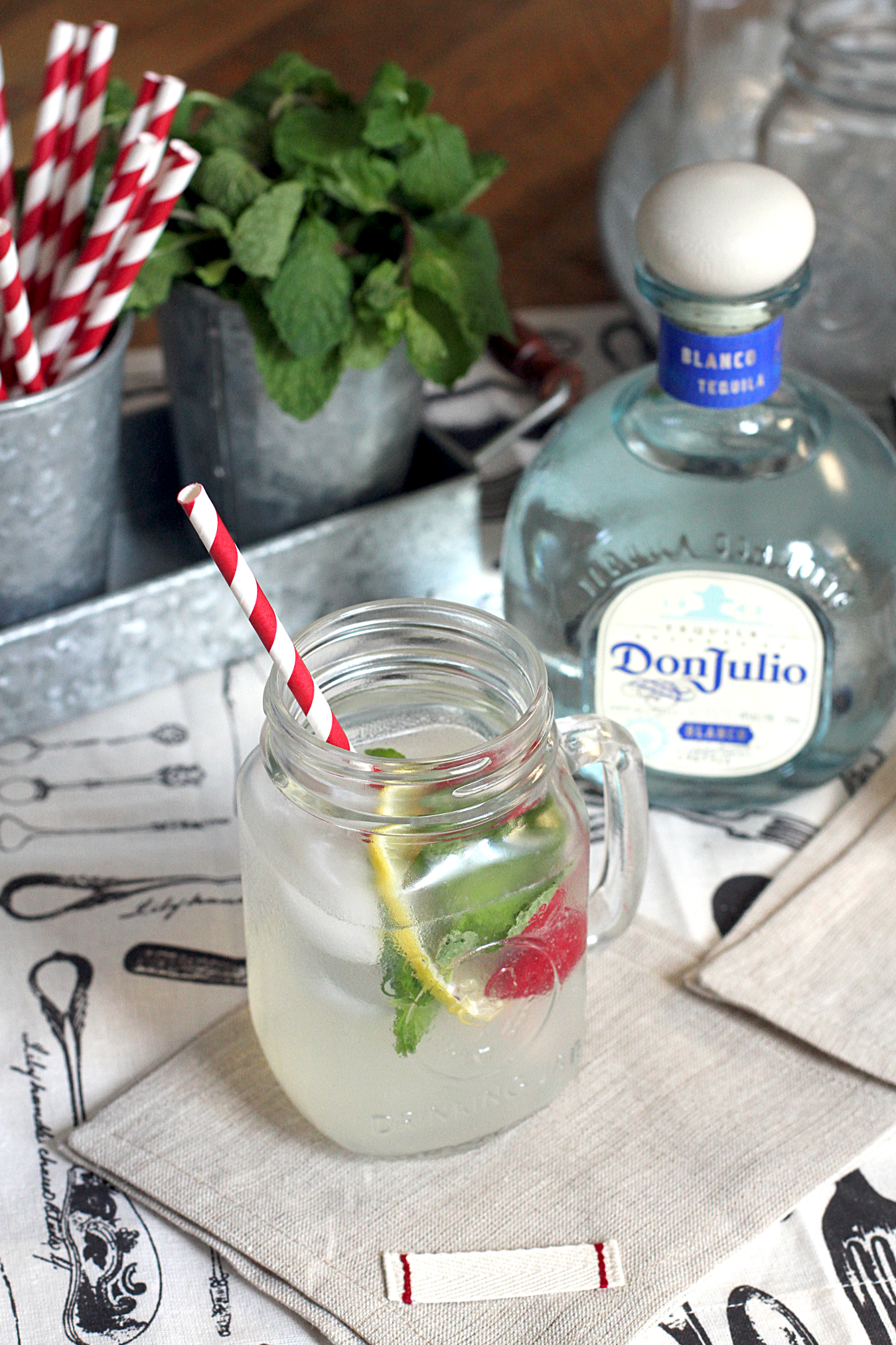Sparkling (and Spiked) Mint Lemonade - Two of a Kind