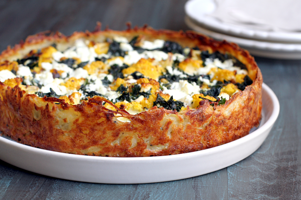 Cauliflower and Kale Quiche