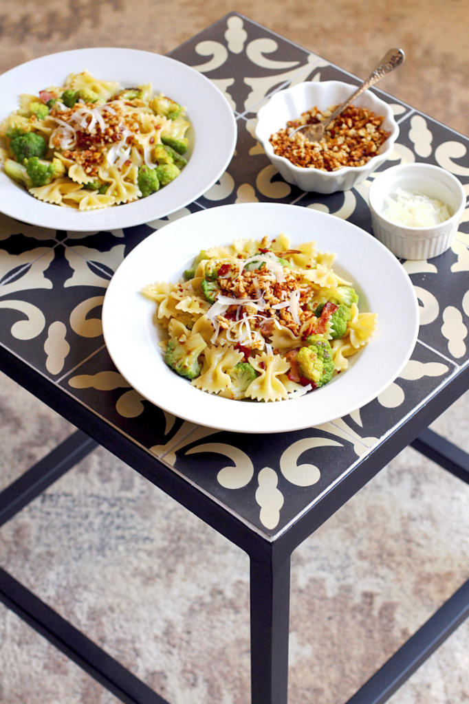Pasta with Cauliflower, Bacon and Bread Crumbs - Two of a Kind