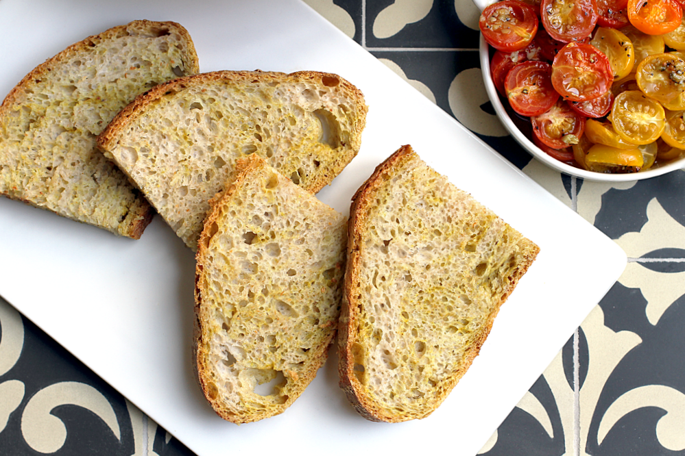 bread is delicious as is but even better topped with creamy avocado ...