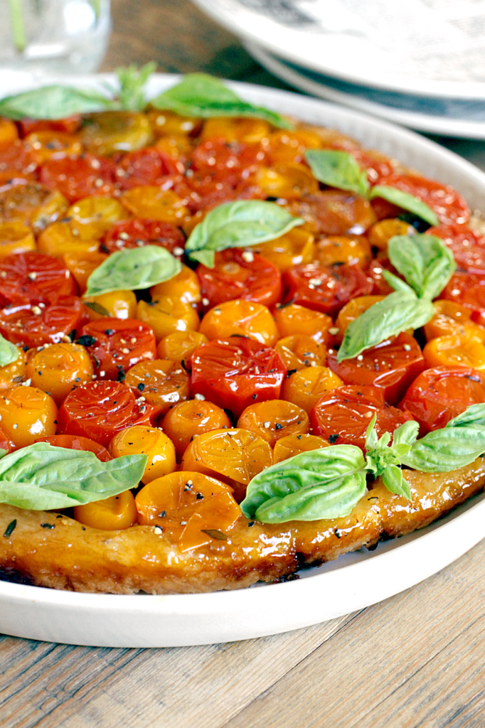 Cherry Tomato Tarte Tatin - Two of a Kind