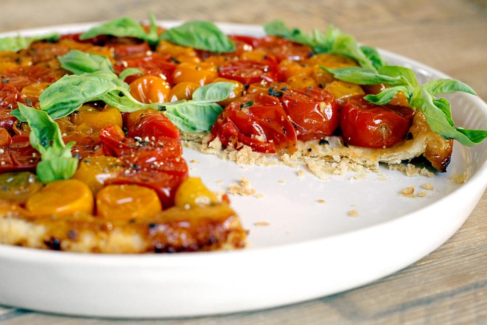 Cherry Tomato Tarte Tatin - Two of a Kind
