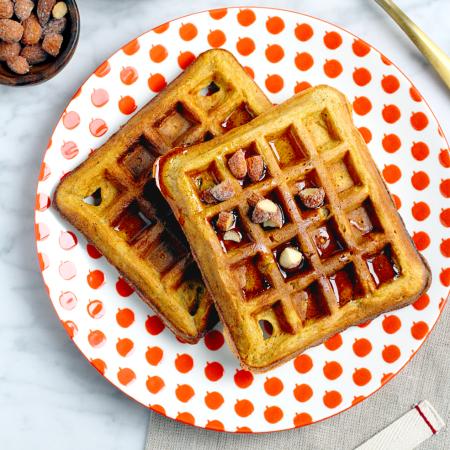 Brown Butter Pumpkin Waffles_top