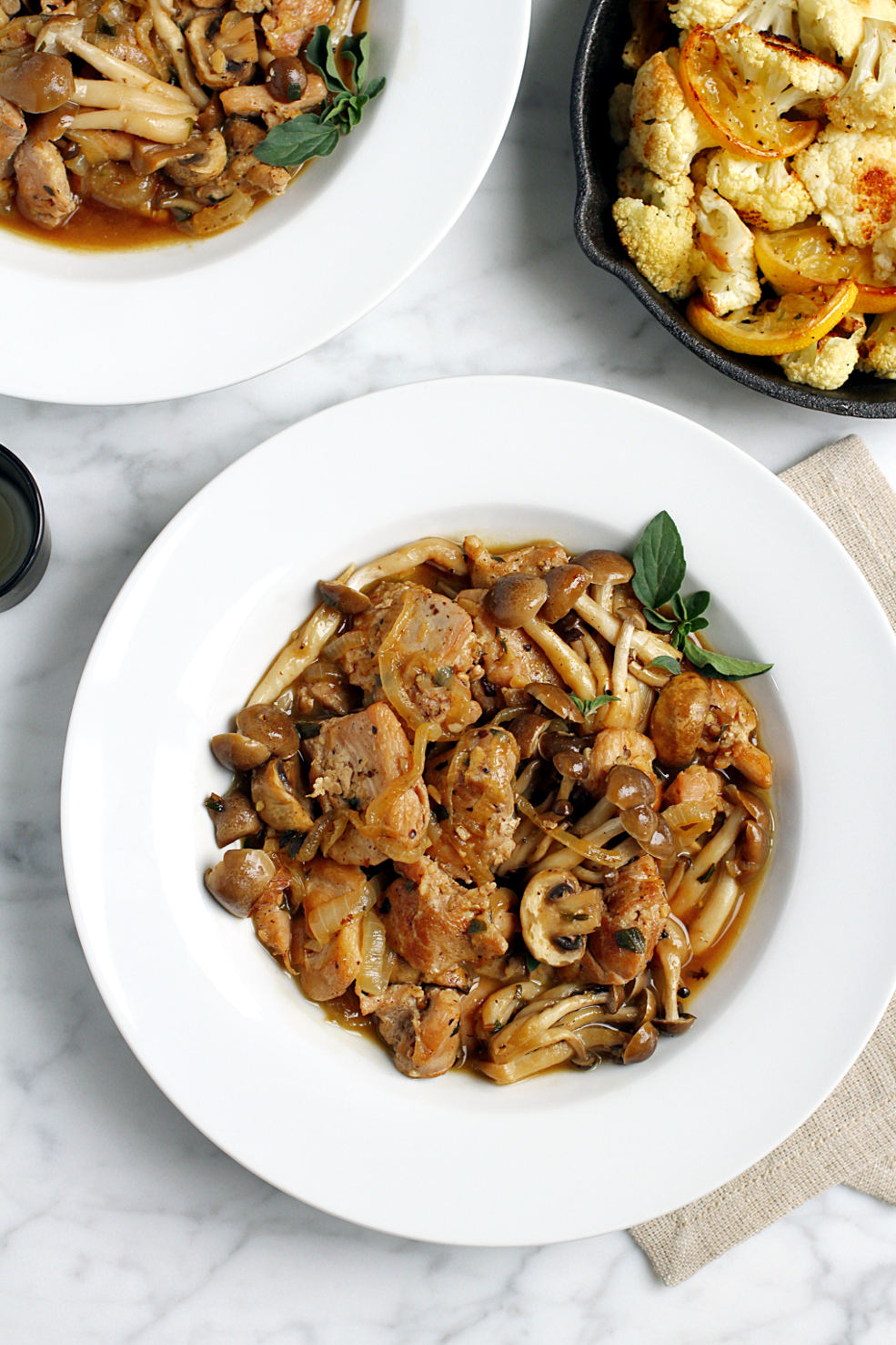 Braised Chicken and Mushrooms_top