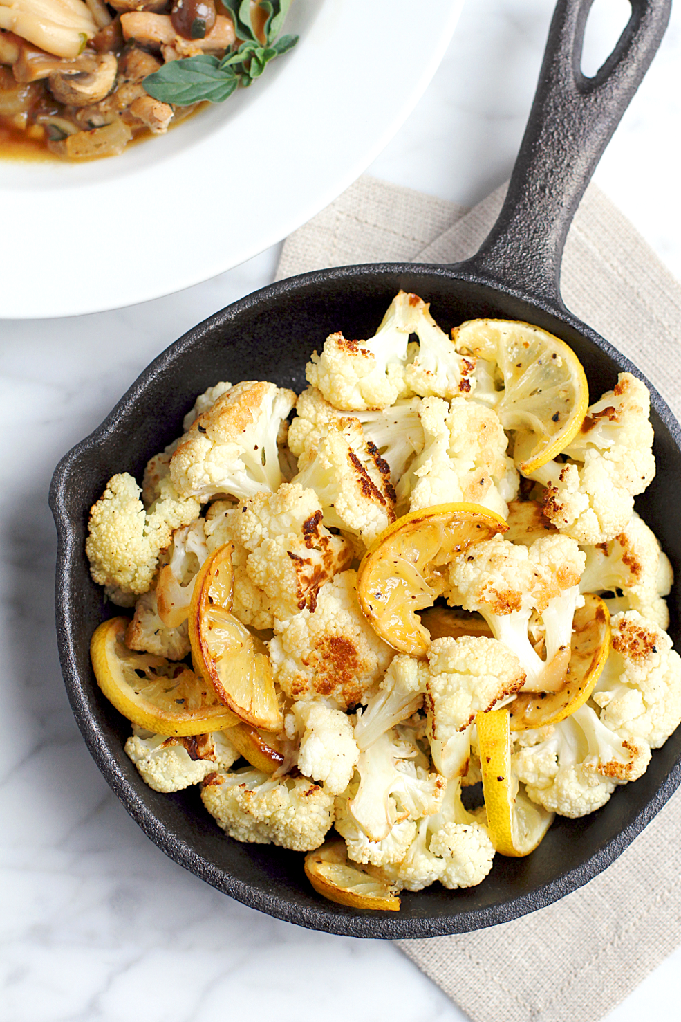 Roasted Cauliflower and Lemon