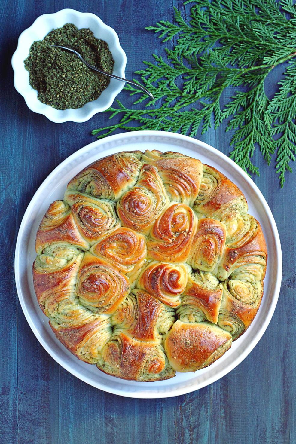 Za'atar Pull-Apart Bread_top