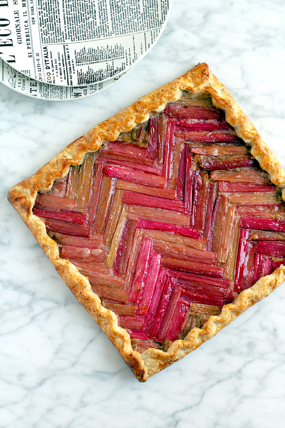 Honey Rhubarb Galette_top