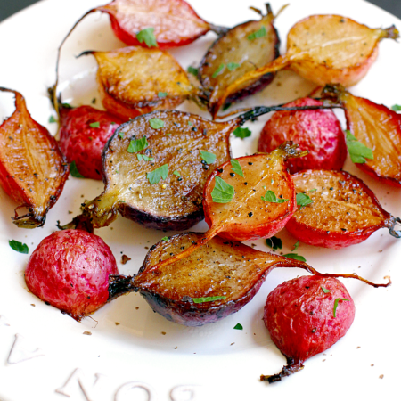 Roasted Radishes with Balsamic Vinegar