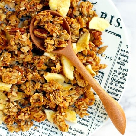 Crispy, Crunchy Banana Granola