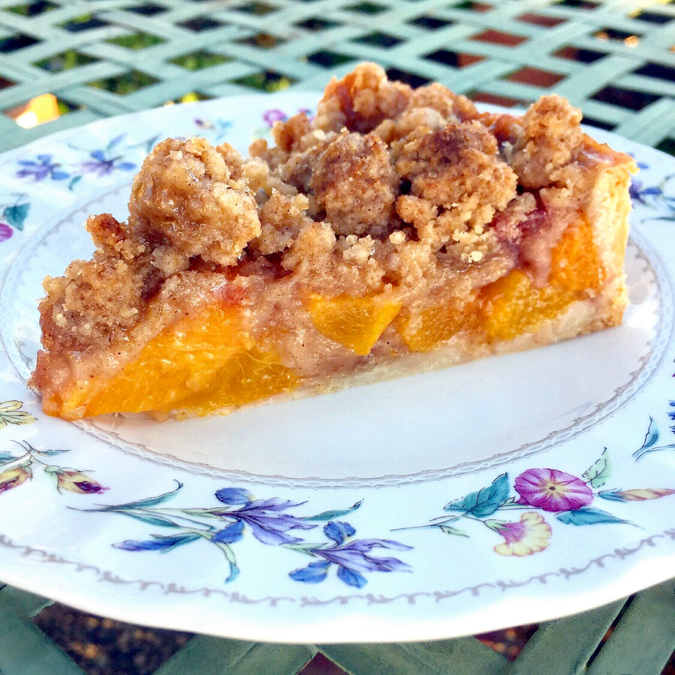 Peach crumble pie may not be pretty, but it's sure to hit the spot ...