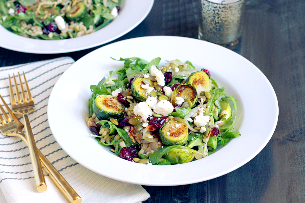 ... Salad with Roasted Brussels Sprouts and Shallots - Two of a Kind