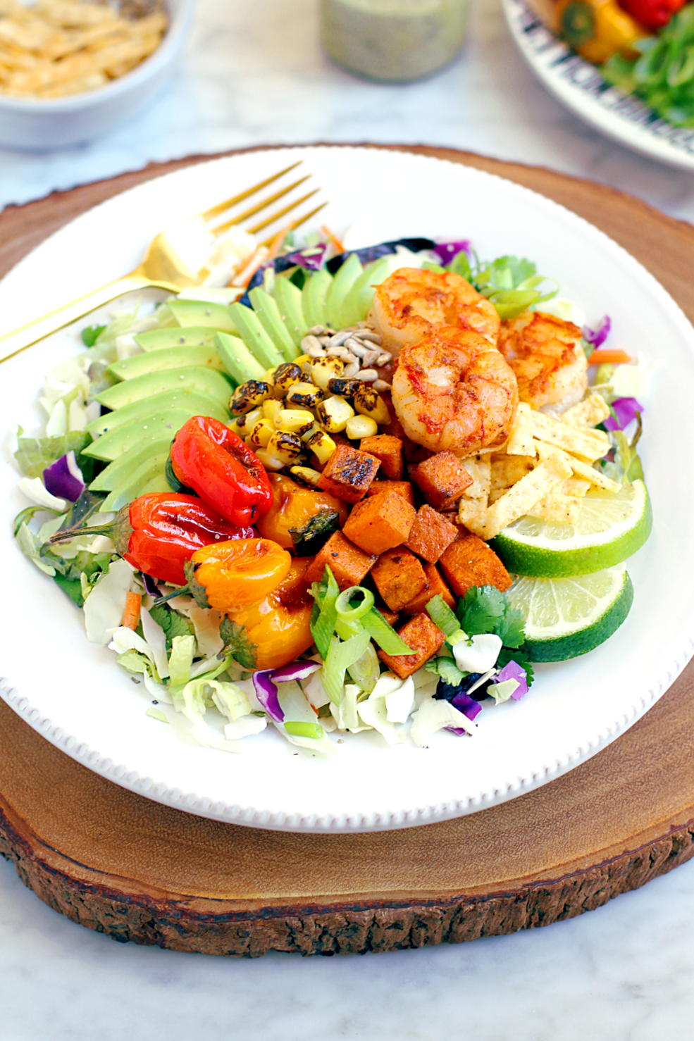 Image of Southwestern shrimp salad.