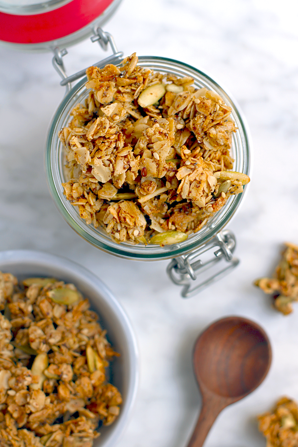 Five-Seed and Coconut Granola_top