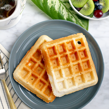Light and Crispy Vegan Waffles_top