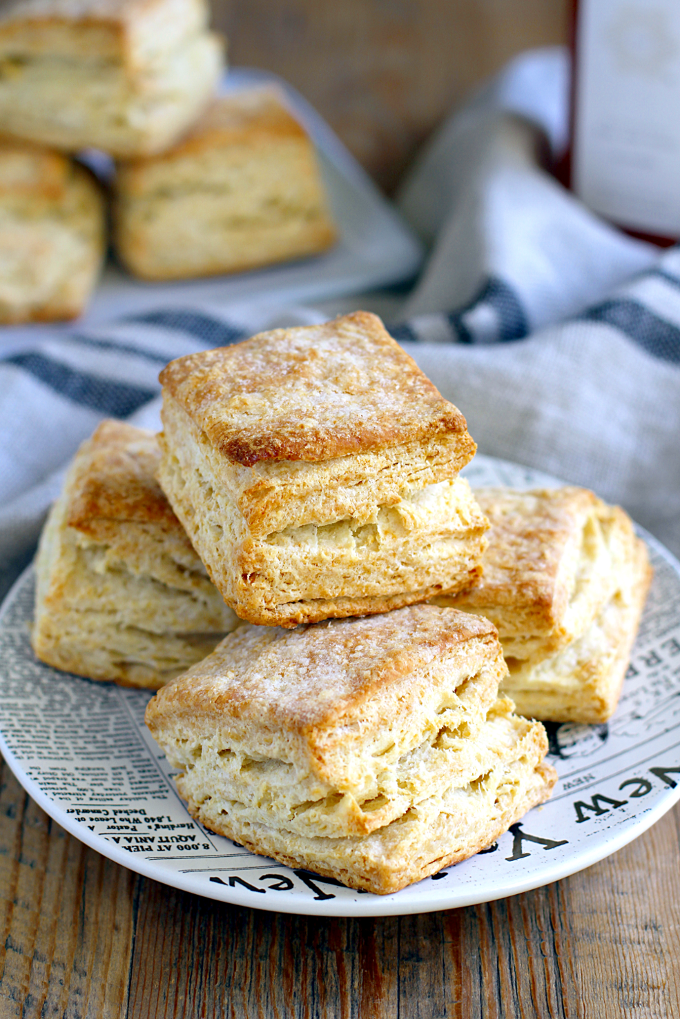Image of flaky buttermilk biscuits.