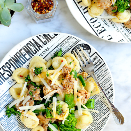 Homemade Orecchiette with Sausage and Broccolini_top