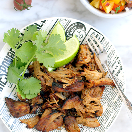 Lighter Carnitas with Cherry Tomato Pico de Gallo_top