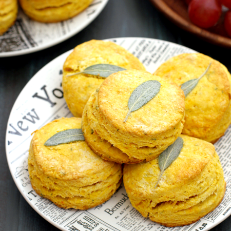 Honeynut Squash and Sage Biscuits
