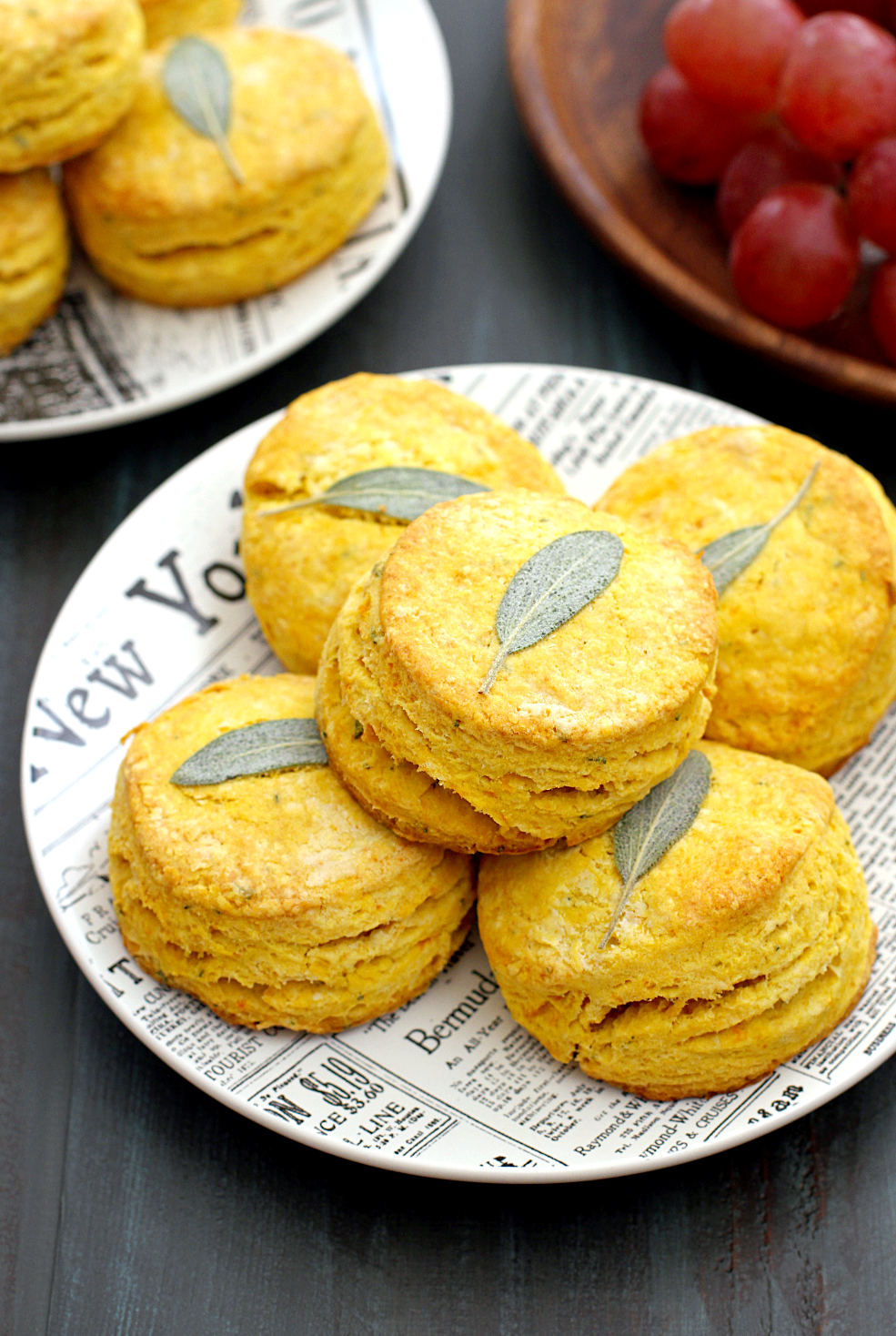 Image of honeynut squash and sage biscuits.