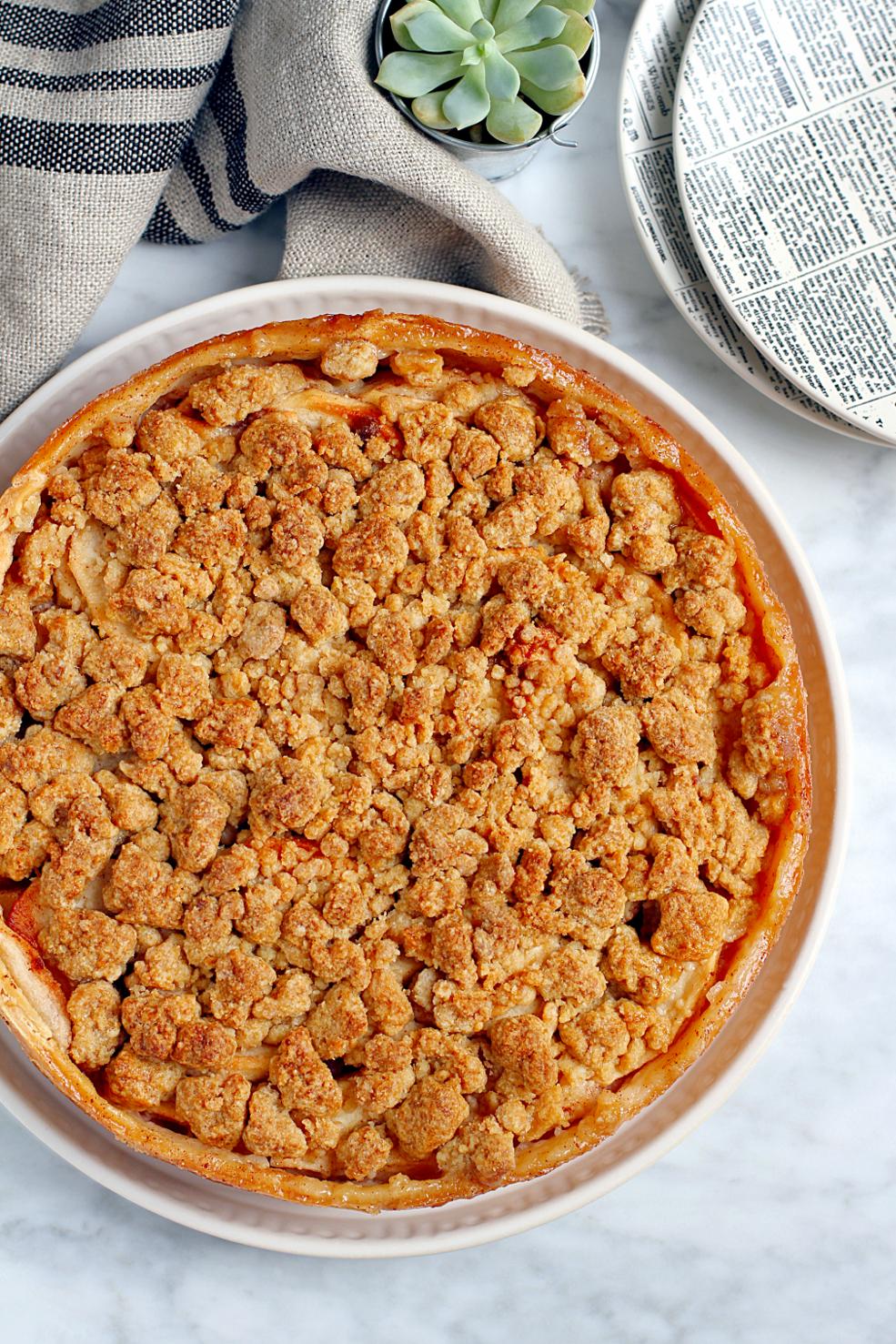 Image of Pennsylvania Dutch apple pie.