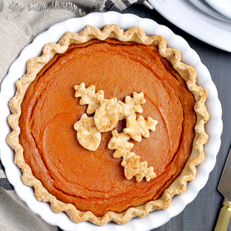 Vegan Pumpkin Pie with a Coconut Oil Crust