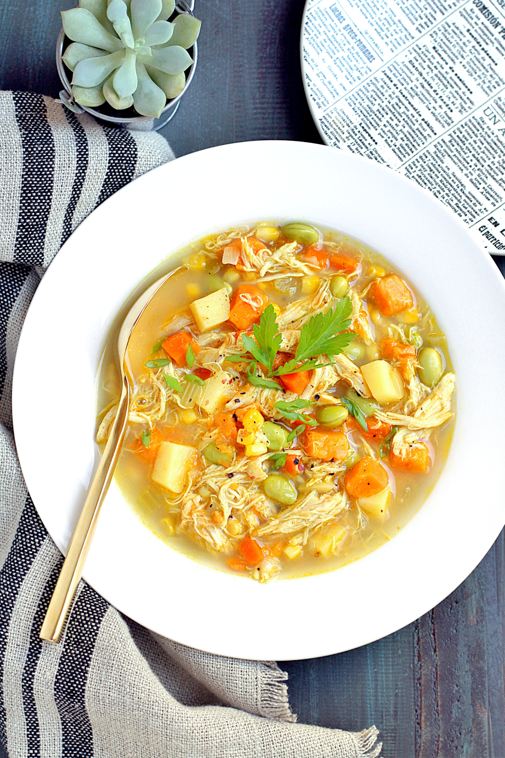 Image of curry chicken chowder.
