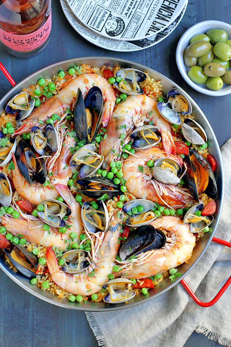 seafood paella two of a kind