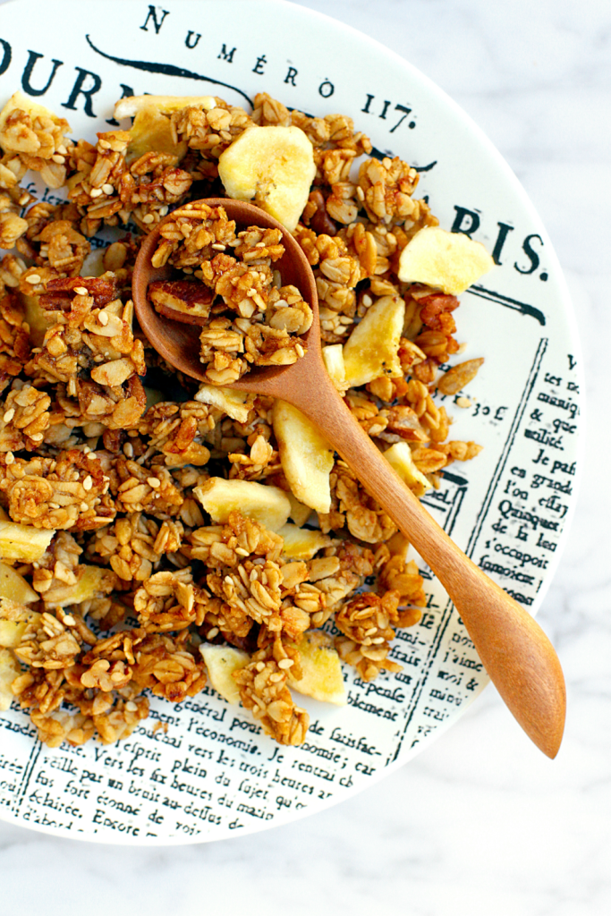 Crispy Crunchy Banana Granola Two Of A Kind